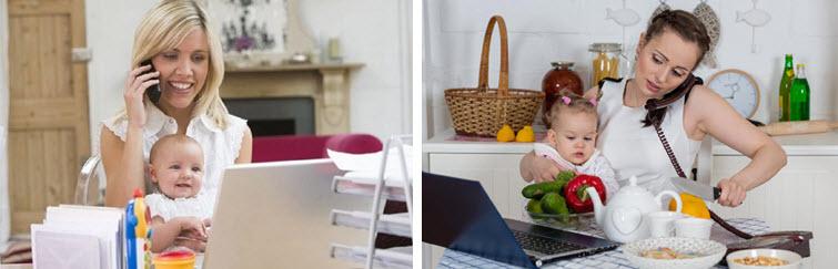как совместить ребёнка и работу